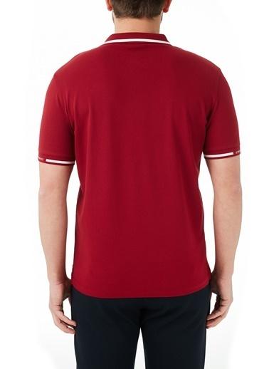 Emporio Armani  Pamuklu Düğmeli Polo T Shirt Erkek Polo 3K1Fa4 1Jptz 0341 Bordo